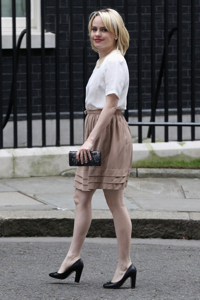 Duffy Pumps [clothing,white,street fashion,photograph,fashion,footwear,lady,snapshot,leg,beige,aimee ann duffy,ministers,officials,london,downing street,england,charity,save the children,cabinet meeting,meeting]