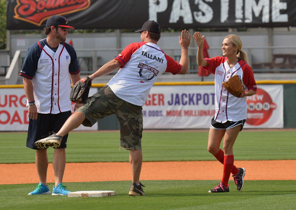 Carrie+Underwood in In The Dugout At City Of Hope's 2012 Celebrity Softball Challenge