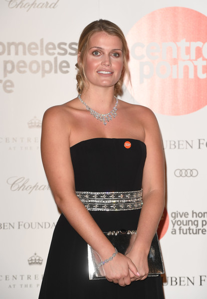 More Pics of Kitty Spencer Diamond Chandelier Necklace (3 of 6) - Chandelier Necklaces Lookbook - StyleBistro [clothing,dress,little black dress,fashion,shoulder,premiere,cocktail dress,event,waist,strapless dress,kitty spencer,the palace,kensington palace,london,england,duke of cambridge attends centrepoint,centrepoint]