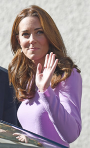 Kate Middleton looked pretty with her bouncy waves at the Global Ministerial Mental Health Summit.