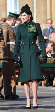 Kate Middleton looked sharp in her green Alexander McQueen coat at the Irish Guards St. Patrick's Day Parade.