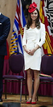 Kate Middleton celebrated Canada Day in style in a pair of pointy red Nym pumps.