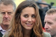Catherine, Duchess of Cambridge attends the start of The Ring O'Fire Anglesey Coastal Ultra Marathon on August 30, 2013 in Holyhead, Wales.