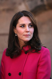 Kate Middleton glammed up her look with a pair of morganite and diamond drop earrings by Kiki McDonough.