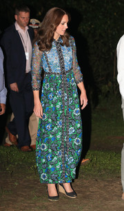 Kate Middleton made a bright and colorful choice with this Anna Sui floral maxi dress for day 3 of her India tour.