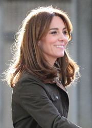 Kate Middleton sported a mid-length bob while visiting  the Teagasc Animal & Grassland Research Centre in Ireland.