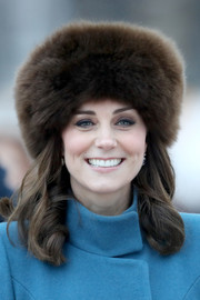 Kate Middleton cut a luxurious figure wearing this brown fur hat while touring Norway.