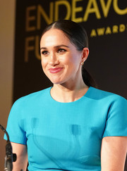 Meghan Markle wore her hair in a sleek center-parted ponytail at the Endeavour Fund Awards.