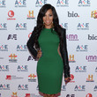 Ashanti at the A&E Upfronts in New York