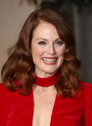 Julianne Moore wore her hair down with high-volume curls during the EE British Academy Film Awards.