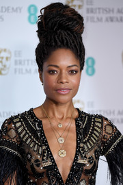 Naomie Harris looked oh-so-cool with her dreadlock beehive at the EE British Academy Film Awards.