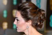 Kate Middleton looked romantic with her loose bun at the EE British Academy Film Awards.
