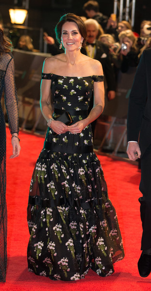 Kate Middleton in Alexander McQueen at the BAFTAS
