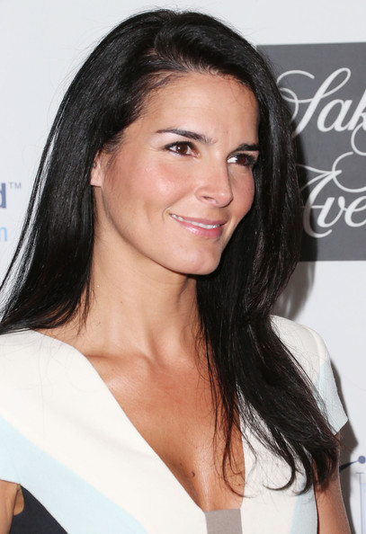 More Pics of Angie Harmon Long Side Part (1 of 8) - Angie Harmon Lookbook - StyleBistro