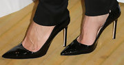 Jamie Tisch kept it classy from head to toe when she wore these shiny black patent leather heels.