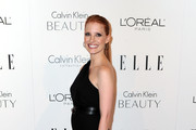 Actress Jessica Chastain arrives at ELLE's 17th Annual Women in Hollywood Tribute at The Four Seasons Hotel on October 18, 2010 in Beverly Hills, California.