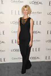 Laura Dern opted to wear a sophisticated jumpsuit with a statement necklace at the Women in Hollywood Tribute.