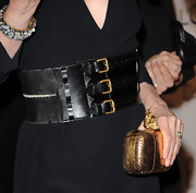 Michelle Pfeiffer's oversized black belt at the Women in Hollywood Tribute had a bondage-chic feel.