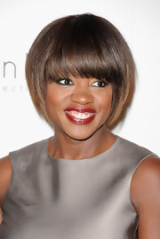 Viola Davis looked pretty and polished with her perfectly coiffed cut and fabulous red lips at the 'Elle' 18th Annual Women in Hollywood Tribute.