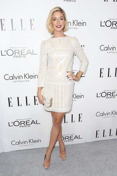 More Pics of Caitlin Fitzgerald Red Lipstick (1 of 7) - Caitlin Fitzgerald Lookbook - StyleBistro [clothing,dress,cocktail dress,shoulder,fashion model,fashion,lady,joint,hairstyle,premiere,caitlin fitzgerald,20th annual women in hollywood celebration - arrivals,beverly hills,four seasons hotel,california,los angeles,elle,20th annual women in hollywood celebration]