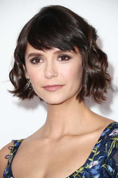 Nina Dobrev looked oh-so-cute with her wavy bob and choppy bangs during Elle's Women in Hollywood celebration.