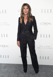 Nina Garcia worked a sleek black jumpsuit by Calvin Klein during Elle's Women in Hollywood celebration.