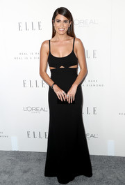 Nikki Reed kept it minimal yet sophisticated in a black cutout slip gown by Victoria Beckham during Elle's Women in Hollywood celebration.