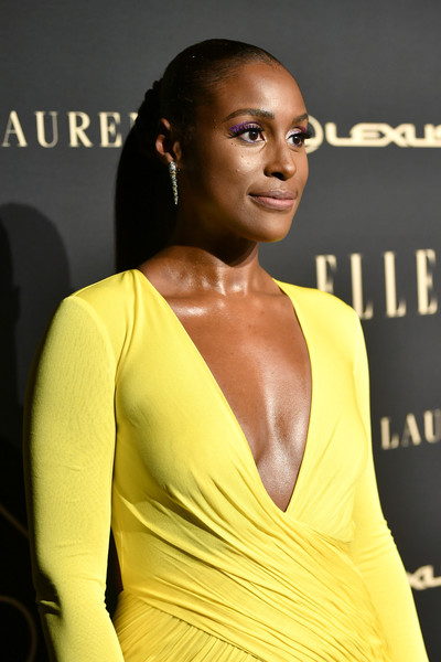 More Pics of Issa Rae Evening Dress (5 of 8) - Issa Rae Lookbook - StyleBistro [hair,yellow,hairstyle,beauty,shoulder,fashion,fashion model,dress,model,long hair,lexus - arrivals,26th annual women in hollywood celebration,ralph lauren,issa rae,los angeles,beverly hills,california,the four seasons hotel,elle,lexus]