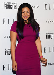 Singer Jordin Sparks loves to experiment with a little color. At ELLE's Annual Women in Music Event she added a few purple and pink streaks.