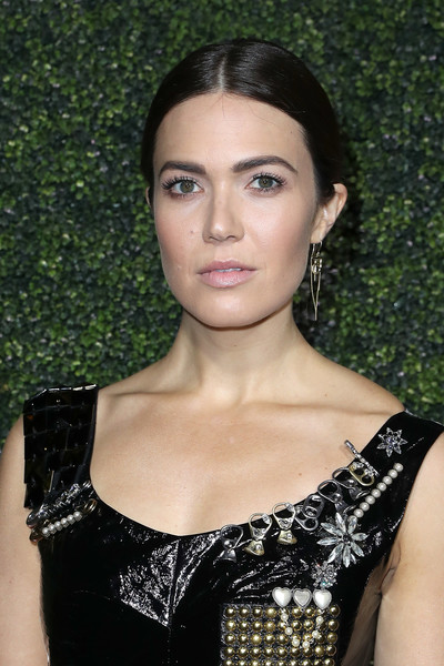 Mandy Moore worked a severe center part during Elle's Women in Television celebration.