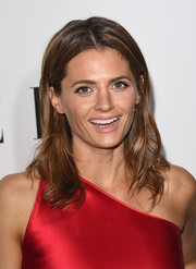 Stana Katic attended the Elle Women in Television celebration wearing her hair with feathery waves.