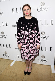 Lena Dunham went for a cute cloud printed dress for ELLE's Annual Women in Television Celebration.