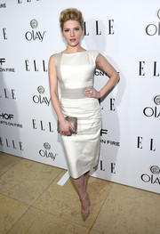 Katheryn Winnick looked fabulous in a simple white pencil dress at ELLE's Annual Women in Television Celebration.