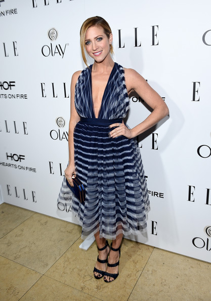 Brittany Snow picked a pair of matching blue sandals by Tamara Mellon for ELLE's Annual Women in Television Celebration.