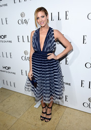Brittany Snow carried a cute matching blue box clutch to ELLE's Annual Women in Television Celebration.
