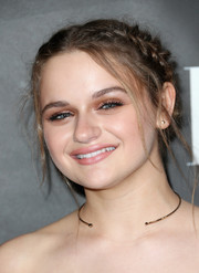 Joey King styled her hair into a messy braided updo for the Elle Women in Comedy event.