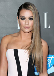 Lea Michele showed off perfectly sleek side-swept layers at the Elle Women in Comedy event.