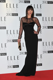 Christina Ricci vamped it up at the Elle Style Awards in this black gown.
