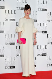 Alexandra Roach looked daring at the Elle Style Awards in this white shift gown.
