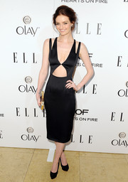 Lydia Hearst showed off her super-slim physique in a sexy cutout LBD by Cushnie et Ochs during the Elle Women in Television celebration.