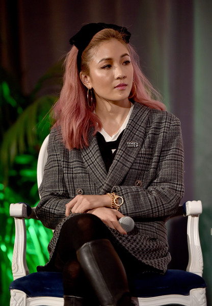 More Pics of Constance Wu Headband (4 of 16) - Hair Accessories Lookbook - StyleBistro [emilys list pre-oscars brunch and panel,sitting,lady,fashion,design,long hair,photography,plaid,constance wu,los angeles,california,emilys list pre-oscars brunch and panel]