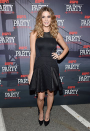 Ashley Greene made a chic appearance at ESPN The Party wearing a flirty mesh LBD by Sass & Bide.