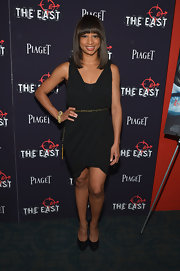 Monique Coleman looked stylish and sexy in a wrap LBD at the premiere of 'The East.'