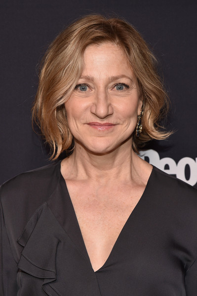 Edie Falco Short Wavy Cut [hair,hairstyle,blond,chin,premiere,long hair,layered hair,brown hair,smile,feathered hair,arrivals,edie falco,hair,hair,hairstyle,terra,entertainment weekly,people upfronts party at second floor in nyc,netflix,party,edie falco,oz,celebrity,hbo,television,image,entertainment,photograph]