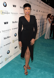 Jennifer Hudson was at her classy best in a Max Mara wrap-style LBD during the Women in Film pre-Oscar cocktail party.