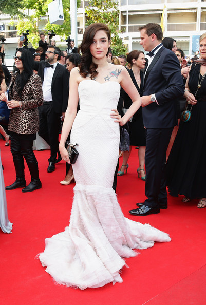 Eleonora Carisi Mermaid Gown [the homesman premiere,the homesman,gown,red carpet,dress,carpet,flooring,clothing,shoulder,premiere,event,fashion,eleonora carisi,cannes,france,the 67th annual cannes film festival,premiere]