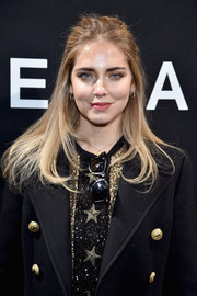 Chiara Ferragni went for a casual half-up style when she attended the Elie Saab Haute Couture show.