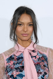 Lais Ribeiro rocked a sexy ponytail at the Elie Saab Spring 2019 show.