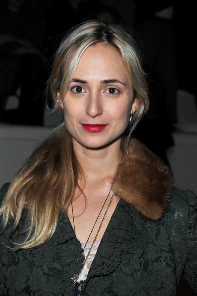 Elisabeth von Thurn und Taxis Ponytail [hair,face,hairstyle,eyebrow,lip,blond,beauty,long hair,brown hair,layered hair,winter 2012,valentino,elisabeth von thurn und taxis,front row,paris fashion week womenswear fall,valentino ready-to-wear fall,part,paris,espace ephemere tuileries,show]