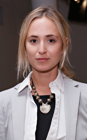 Elisabeth von Thurn und Taxis Oversized Pendant Necklace [elisabeth von thurn und taxis attends ohne titel spring 2013 at milk studios,hair,blond,hairstyle,fashion,suit,long hair,tuxedo,formal wear,fashion accessory,white-collar worker,princess,new york city,titel - front,row - spring 2013 mercedes-benz fashion week]